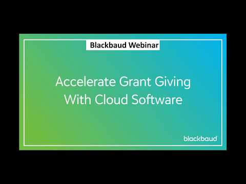 Accelerate grant giving with cloud software