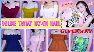 ONLINE TAYTAY TRY-ON HAUL (Ft: Hot Picks Clothing Taytay Online Shop) + GIVEAWAY