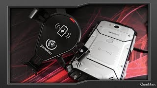 Rebeltec C15 - samochodowy uchwyt do smartfona + ładowarka bezprzewodowa