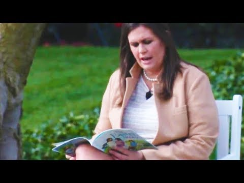 Sarah Huckabee Sanders Reading To Children Is The Funniest Thing You'll See All Day