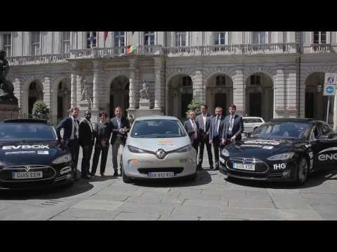 ESCP Europe Electric Vehicle Tour - Turin Stop Emotional
