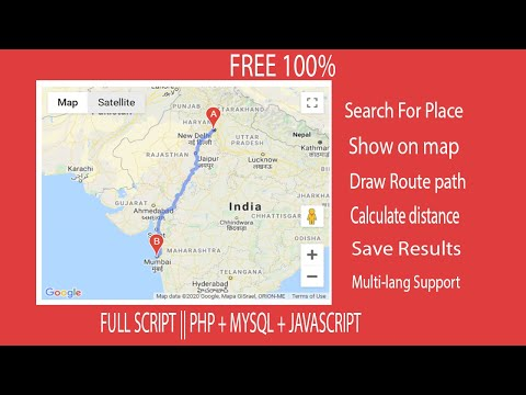 Draw Route Between Two Locations In Google Map | FULL SCRIPT