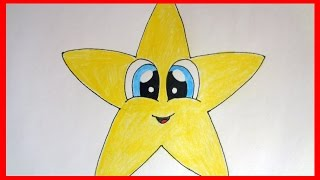 How to draw Cute Star, cute stuff, cartoons Как нарисовать звёздочку(SUBSCRIBE http://www.youtube.com/channel/UCP3MUIw4Nd-eG8sCLSOL8eg?sub_confirmation=1 How to draw cartoon characters How to draw Cute Star, ..., 2015-01-01T03:10:23.000Z)