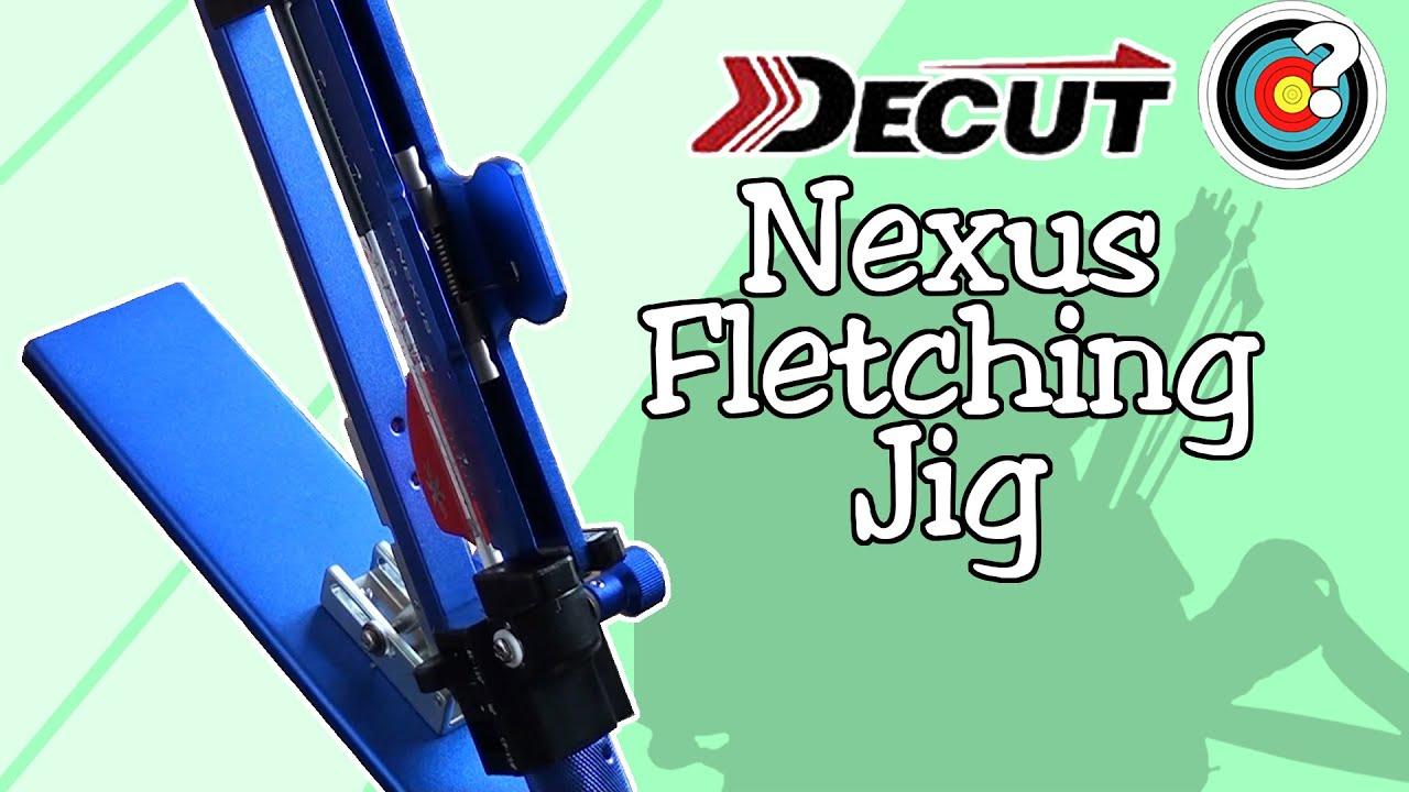 DECUT Archery Fletching Jig Adjustable Stick Feather Tool Bonding Recurve Compound Arrow Adjustable Universal Archery Equipment