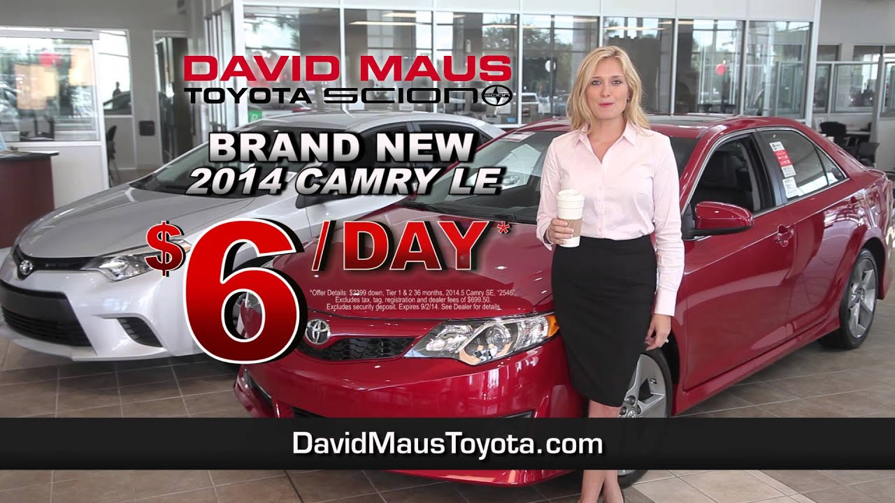 David Maus Toyota   Drive A Toyota For Price Of A Latte! :30