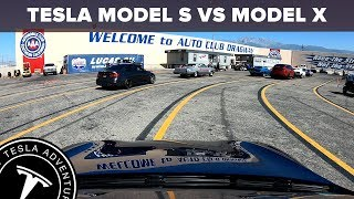 Tesla Drag Racing | Auto Club Speedway