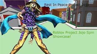 Roblox Project Jojo Spin Showcase!