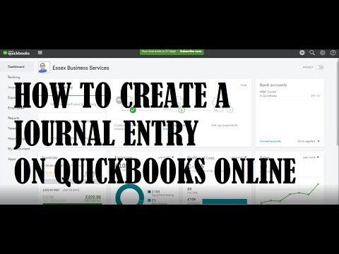 How to post a journal using QuickBooks Online