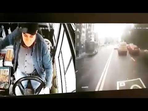 видео: ГИБДД нашла маршрутчика, ехавшего в  «час пик» по встречке на ул. Мориса Тореза
