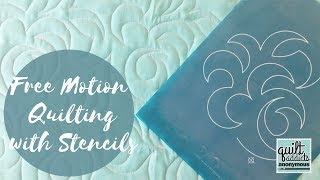 How to quilt an overall swirl  using Full Line Stencil and the Pounce Pad