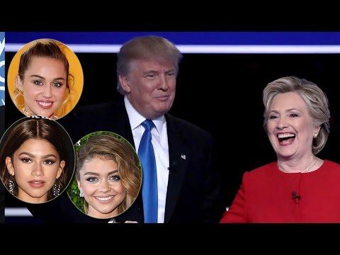 Celebs React To Hillary Clinton & Donald Trump's First Presidential Debate