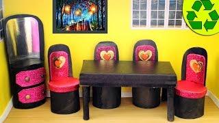 DIY | Doll Toilet Paper Roll Furniture - simplekidscrafts