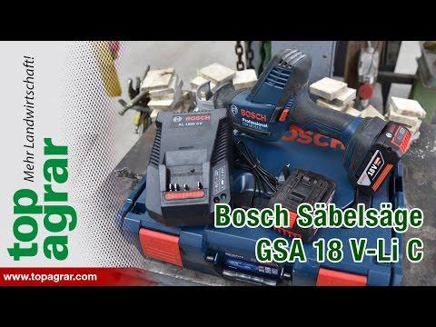 Видео обзор: Сабельная пила BOSCH GSA 18 V-LI C без АКБ и ЗУ