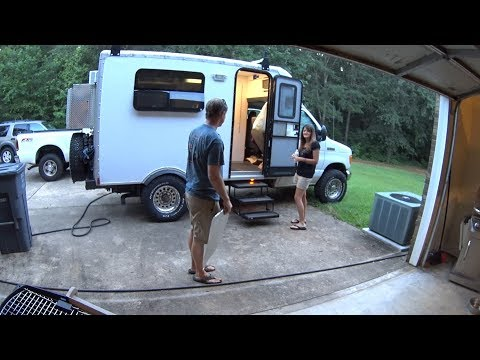 Box Truck Camper - Helen and Hiawassee Georgia - fixing things as we use use it