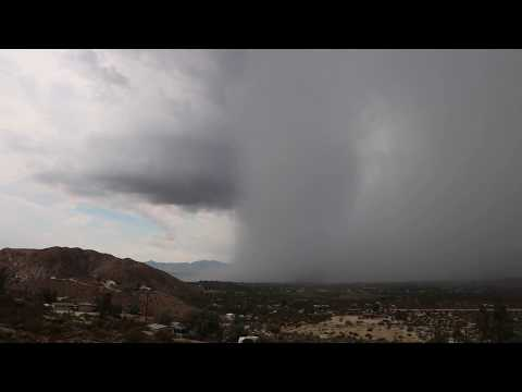 Giant Tower of Water - Monsoon storm over Morongo Valley - Part I