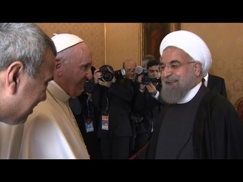 Pope urges Iran to promote political solutions in Middle East