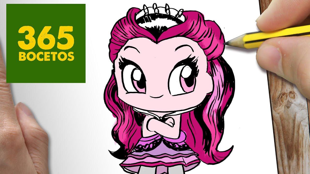 Como Dibujar Raven Queen Kawaii Paso A Paso Dibujos Kawaii Faciles