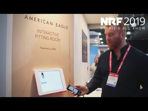 NRF 2019: American Eagle's Interactive Fitting Room Experience. Powered By Aila.