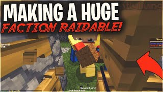 MY FACTION GOT TRAPPED, SO I MADE THEM RAIDABLE SOLO...   Minecraft HCF