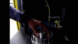 Laser Marker. Leak detection laser marking accepted parts.