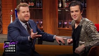 Brandon Flowers & James Talk at the Bar