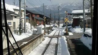 えちぜん鉄道 勝山永平寺線 比島駅 普通 下り 通過