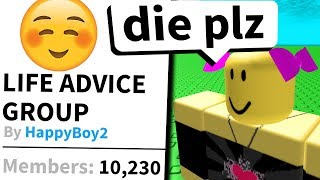 This really weird Roblox group told me bad things