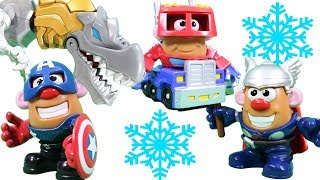 Mr. Potato Head Mixable Mashable Marvel & Transformers 20 Minute MEGA Surprise Video!