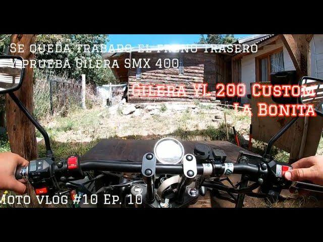 Se queda trabado el freno trasero en mi moto y pruebo la Gilera SMX 400 | Motovlog #10 S1 Ep. 10