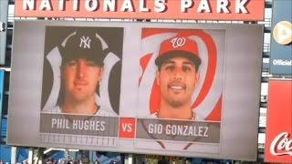 New York Yankees vs Washington Nationals Starting Lineups 6/15/2012
