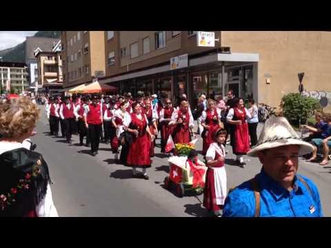 Davos 2014 Festumzug beim Jodlerfest