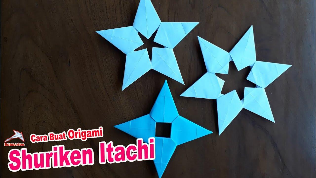 Membuat Origami Shuriken Itachi Naruto Shippuden Origami Shuriken