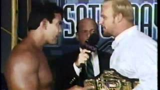 """Stunning"" Steve Austin confronts Ricky Steamboat - WCW Saturday Night - 7/23/94"