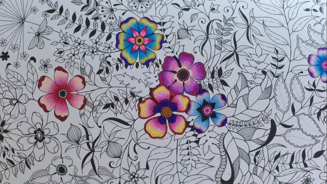 Secret Garden Basic Flower Coloring Coloring With
