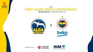 Press Conference ALBA BERLIN - Fenerbahçe Istanbul