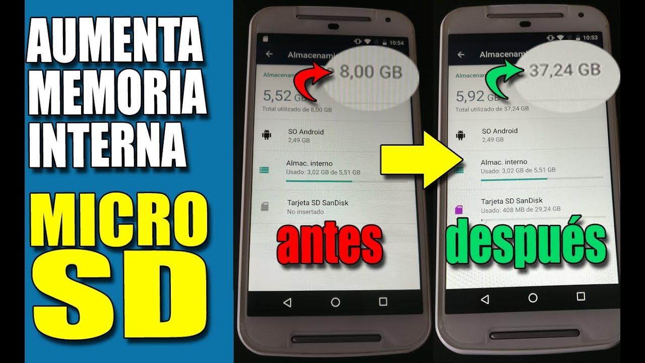 Aumentar Memoria Interna De Tu Android Convertir Microsd En