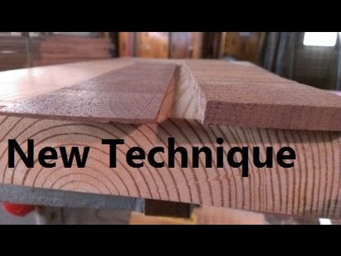 How To Plane Wood Thin Quickly Youtube