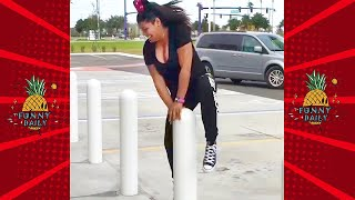 Gravity Defeating PEOPLE ★ Laughing Clumsy Girls Fails Compilation