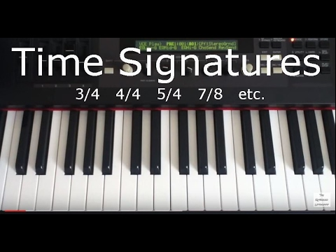 Time Signatures Illustrated on Piano Keyboard