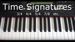 Download Video Time Signatures Illustrated on Piano Keyboard MP3 3GP MP4