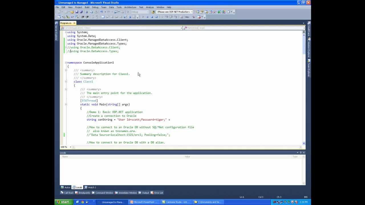 ODP NET Managed Driver Beta - Quick Start