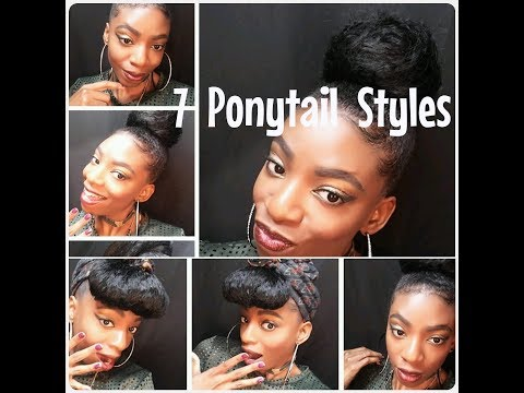 HOW TO :DRAWSTRING PONYTAIL **7 Cute Styles**