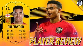 94 RTTF GREENWOOD PLAYER REVIEW! SBC PLAYER - FIFA 20 ULTIMATE TEAM