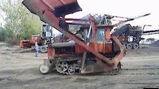 фронтально перекидной погрузчик ПТС-77 (ДТ-75) front rocker loader PTS-77 (crawler tractor DT-75)