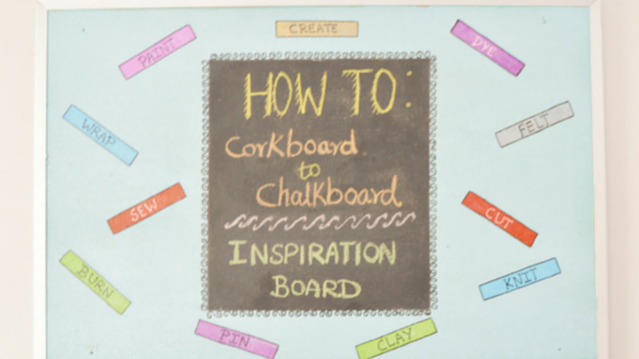 Easily Turn A Cork Board Into Chalkboard Diy Home Guidecentral