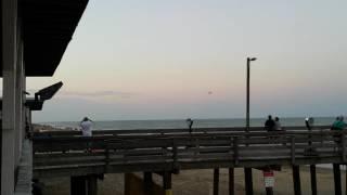 Fighter jet buzzing Va Beach on full afterburner