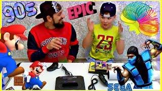 90-е ОГРОМНАЯ ПОСЫЛКА РАСПАКОВКА ОТЕЦ И СЫН 🎮  SEGA Mega Drive 2 🎮  Z-BOSS - 'DENDY & SEGA'