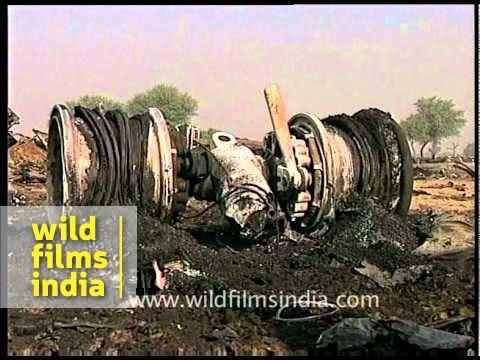 Remains after plane crash