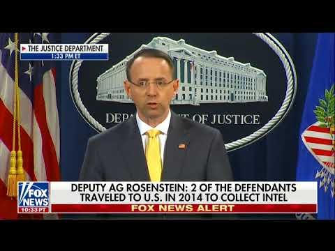DOJ's Rod Rosenstein Announces Indictment of 13 Russians for Election Meddling; No Collusion