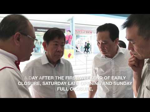 SMRT Chairman Mr Seah Moon Ming visits staff at Jurong Crew Point